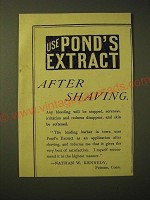 1893 Pond's Extract Ad - Use Pond's Extract after shaving