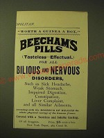 1893 Beecham's Pills Ad - Worth a Guinea a Box
