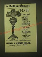 1893 Bradley & Hubbard Lamp Ad - A brilliant success is a saying
