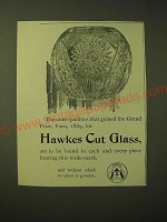 1893 Hawkes Cut Glass Ad - The same qualities that gained the Grand Prize