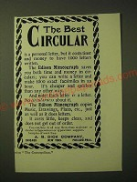 1893 A.B. Dick Edison Mimeograph Ad - The best circular