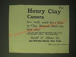 1893 henry Clay Camera Ad - The Henry Clay camera is - well, send for a Henry