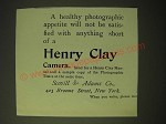 1893 henry Clay Camera Ad - A healthy photographic appetite