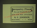 1893 S.C. Johnson Ad - Parquetry Floors