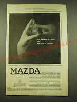 1918 General Electric Mazda light bulb Ad - Not the name