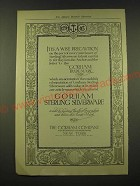 1918 Gorham Sterling Silverware Ad - It is a wise precaution