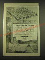 1918 Wilson & Co. Restgood Sanitary Curled hair mattress Ad - Sound sleep aids