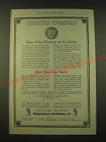 1918 Hercules Powder Co. Ad - Serve your country on the farm