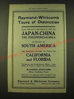 1918 Raymond & Whitcomb Ad - Raymond-Whitcomb Tours of Distinction