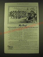 1918 National War-Savings Committee Ad - My Boy! Will you lend 25¢ to Uncle Sam