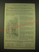 1918 Guaranty Trust Company of New York Ad - An organization for investment