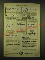 1918 Charles Scribner's Sons Ad - Fighting the Boche Underground by Captain