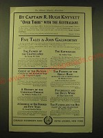 1918 Charles Scribner's Sons Ad - Over There with the Australians