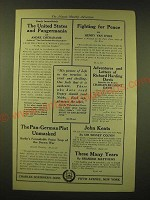 1918 Charles Scribner's Sons Ad - The United States and Pangermania