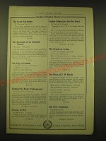 1918 Charles Scribner's Sons Ad - Scribner Holiday Books