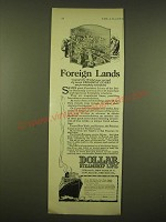 1924 Dollar Steamship Line Ad - Foreign lands