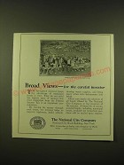 1924 The National City Company Ad - Broad Views - for the careful investor