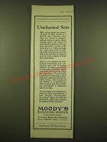 1924 Moody's Investors Service Ad - Uncharted Seas