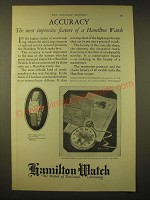 1924 Hamilton Watches Ad - Accuracy The most impressive feature of a Hamilton