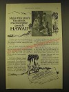 1924 Hawaii Tourist Bureau Ad - Make this year's vacation memorable