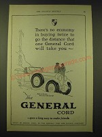 1924 General Cord Tires Ad - There's no economy in buying twice