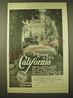 1924 Santa Fe Railroad Ad - The Riviera in U.S.A. California