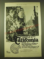 1924 Santa Fe Railroad Ad - The warmth of spring awaits you in California