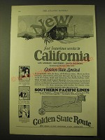 1924 Southern Pacific Lines Railroad Ad - New fast luxurious service