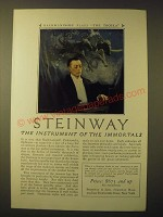 1924 Steinway Pianos Ad - Rachmaninoff plays The Troika