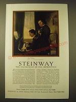 1924 Steinway Pianos Ad - Josef Hofmann the Pupil of Rubinstein
