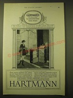 1924 Hartmann Trunk Company Ad - World-wide recognition of this name and mark
