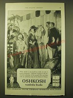 1924 Oshkosh Wardrobe Trunks Ad - What detail is too small to make or mar