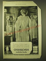 1924 Oshkosh Wardrobe Trunks Ad - The presence of Oshkosh luggage in a cabin