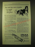 1924 Bristol-Myers Ipana Tooth Paste Ad - The food they serve at parties