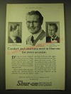 1924 Shur-On Optical Spectacles & Eyeglasses Ad - Comfort and smartness meet