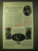 1924 Fleischmann's Yeast Ad - One simple food and they found the road to health
