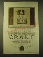 1924 Crane Bath Fixtures Ad - Commode Lavatory and radiator valve no. 231