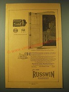 1924 Russwin Ad - Adaptable Garage Lock and Automatic-Locking Bolts