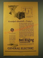 1924 General Electric G-E Wayne Bell Ringing Transformer Ad