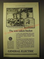 1924 General Electric Squirrel-cage motors Ad - The new oaken bucket