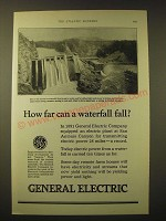 1924 General Electric Ad - How far can a waterfall fall?