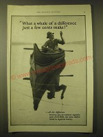 1924 Fatima Cigarettes Ad - Whale of a difference just a few cents make!
