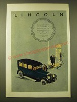 1924 Lincoln Car Ad - To possess the Lincoln is to know that no worthier