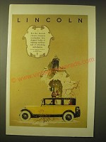 1924 Lincoln Car Ad - foremost coachmakers have designed