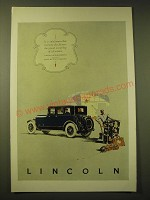 1924 Lincoln Car Ad - It is only human that everyone should envy