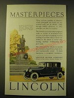 1924 Lincoln Car Ad - St. Gauden's Lincoln - Masterpieces