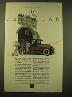 1924 Cadillac Motor Car Ad - art by Fred Mizen - V-63 Cadillac