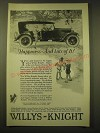 1924 Willys-Knight Cars Ad - Happiness - and lots of it