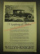 1924 Willys-Knight Cars Ad - A symphony of motion