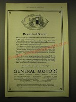 1924 General Motors Ad - Rewards of service